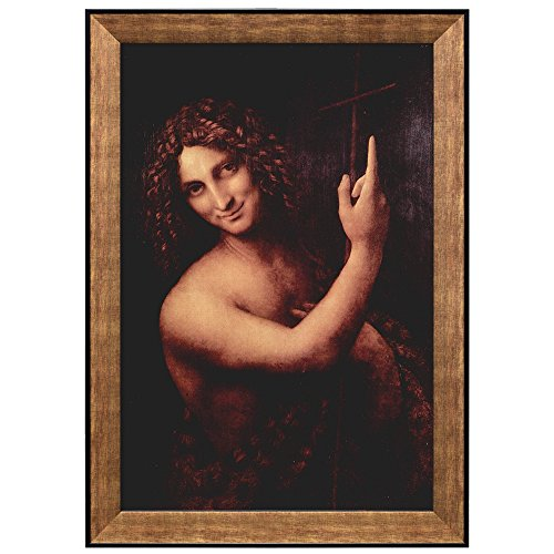 St John the Baptist by Leonardo Da Vinci Framed Art