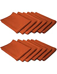 TableLinensforLess Cloth Napkin Table Ready (12, Burnt Orange)