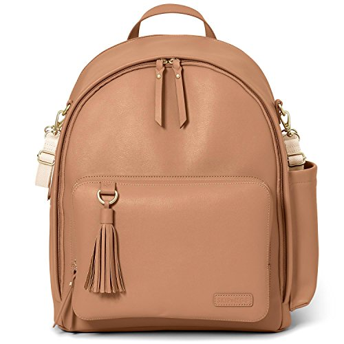 Skip Hop Greenwich Simply Chic Diaper Backpack, Caramel