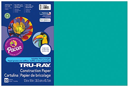 pacon-tru-ray-construction-paper-12-inches-by-18-inches-50-count-turquoise-103055