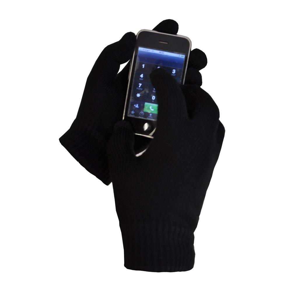 TOUTACOO Guanti Tattili (10 dita) DI LANA per Touch Screen Smartphone e Tablet