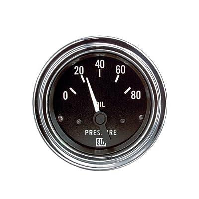 "Stewart Warner 82304 Deluxe 2-1/16"" Oil Pressure Electric Gauge: Automotive"