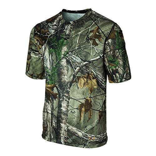 Terramar Men's Thermolator II Short Sleeve Tee, Real Tree Xtra Camo, Large (Real T Tree Shirts)
