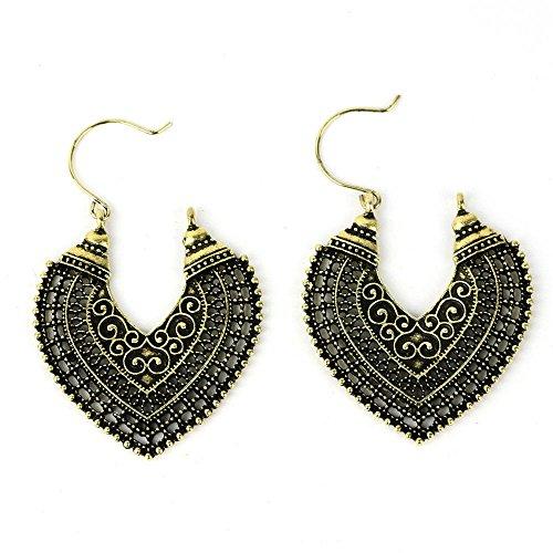 ERAWAN Fashion Womens Boho Ethnic Drop Dangle Vintage Earrings Jewelry Bronze Silver EW sakcharn (2 #, Antique Gold)