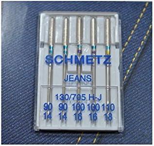 Agujas para máquina de coser Schmetz 90/14 100/16 110/18 jeans ...