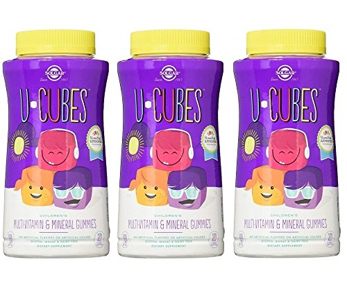 U-Cubes Children's Multi-Vitamin and Mineral Gummies, 120 Gummies (Pack of 3) Review