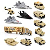 Liberty Imports Special Forces Military Vehicles Scaled Army Toy Playset - Stealth Bomber, Tank, Helicopter, Jets More!