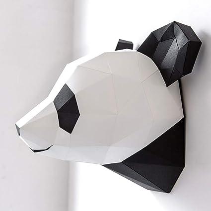 Amazon Zywx Diy Handmade Panda Head Origami Wall Hanging 3d