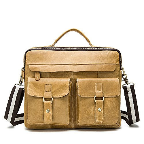 Meoaeo Los Hombres Individuales Bolsa Bandolera, Los Hombres Y Los Hombres Individuales Bolso Café Oscuro Trompeta Yellow brown