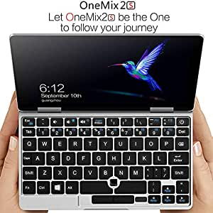 "XAMMBOX 7"" One Netbook One Mix 2 S Yoga Pocket Laptop Ultrabook Windows 10 Portable Mini Laptop UMPC Intel Core M3-8100Y Laptop Touch Screen Tablet PC 8GB/256GB+2048 Level Original Stylus Pen"