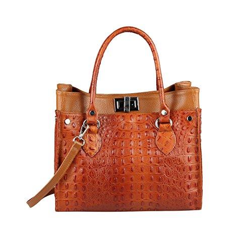 OBC Only-Beautiful-Couture, Borsa a spalla donna Blu blu/bianco ca.: 31x26x15 cm (BxHxT) Cognac-marrone