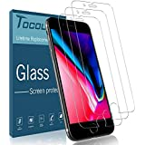 [3 Pack] TOCOL Screen Protector for iPhone 7 /Plus 8 Plus, [3D Touch] Tempered Glass 9H Hardness, Anti-Scratch, Anti-Fingerprint Screen Protectors for iPhone 7 Plus/8 Plus with Lifetime Replacement