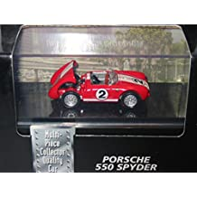 Hot Wheels Collectibles - Limited Edition Cool Collectibles - Porsche 550 Spyder (Light Blue) - Mounted in Collector's Display Case