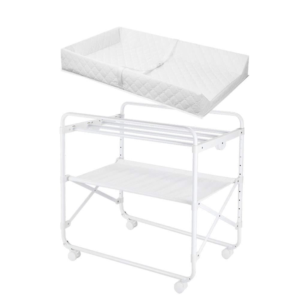 調節可能なおむつテーブル、新生児の入浴変更服ベビーベッド折り畳み式ポータブルそれは子供のベッドを移動することができます、85 * 50 * 76 CM (サイズ さいず : 85*50*76CM) 85*50*76CM  B07MDZ12SM