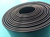 LEMBERG BLACK 1.5'' Wide 20' Length Chair Vinyl Strap Strapping for Patio Lawn Garden Outdoor Furniture Matte Finish Color