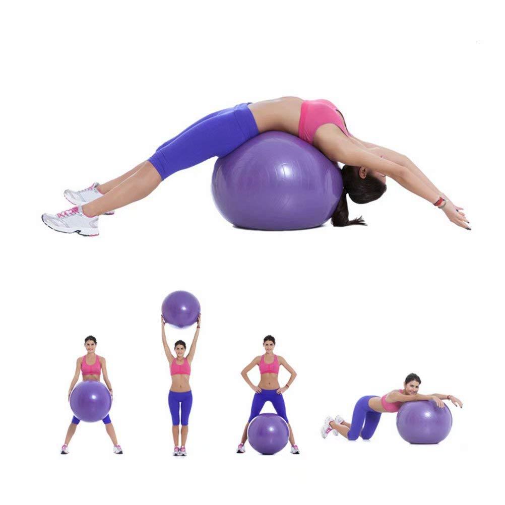 FLYWM Original Gymnastikball 25cm bis 75 cm inkl Ballschale bis 400 kg belastbar Training Fitness Reha Therapie Sitzball Gymnastik Ball B/üro Sport,Lila-75cm