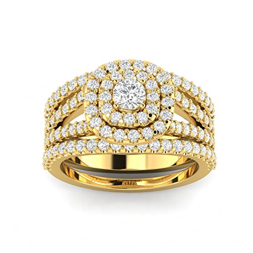 Cushion Diamond Engagement Wedding yellow product image