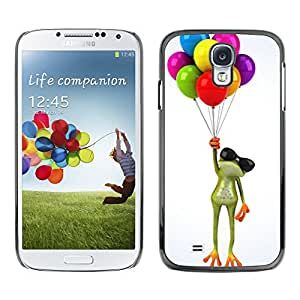 Cubierta protectora del caso de Shell Plástico || Samsung Galaxy S4 I9500 || Up Frog Birthday Gift White @XPTECH
