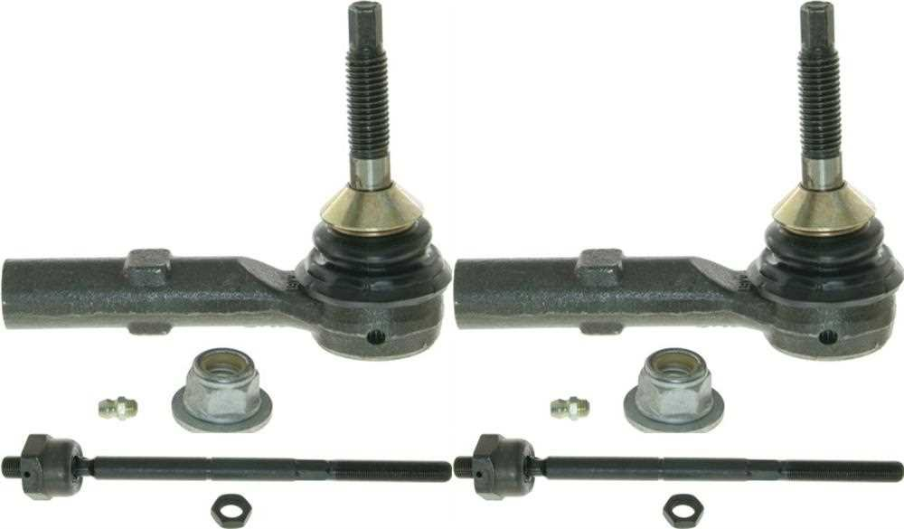 Prime Choice Auto Parts TRK3219-TRK3499 2 Front Outer and 2 Front Inner Tie Rods