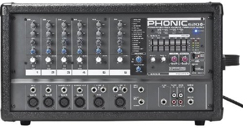 - Phonic Powerpod 620 Plus 200W 6-Channel Powered Mixer with DFX