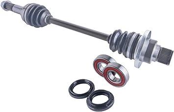 East Lake Axle front left cv axle wheel bearings /& seal kit compatible with Yamaha Rhino 450//660 2004 2005 2006 2007 2008 2009