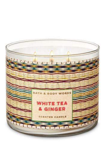 - Bath and Body Works 3 Wick Scented Candle in White Tea and Ginger 14.5 Ounce