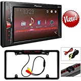 Pioneer Digital Multimedia Video Receiver with 6.2 WVGA Display, and Built-in Bluetooth (Does NOT Play CDs) Cache Night Vision Car License Plate Rearview Camera (CAM810B)