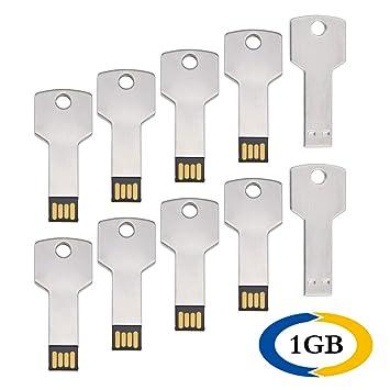 1 GB Pendrive 10 Pack Llave Shape Memoria USB 2.0 Metal Flash ...
