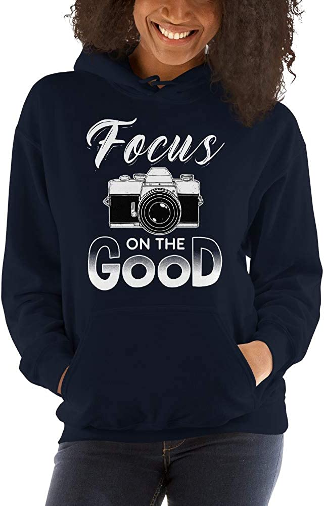Focus On The Good Vintage Camera Photographer Unisex Hoodie