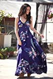 Purple Maxi Summer Dress, Hawaiian print Dress, Feminine boho romantic Dress, Bohemian Rustic Long Floral Maxi dress