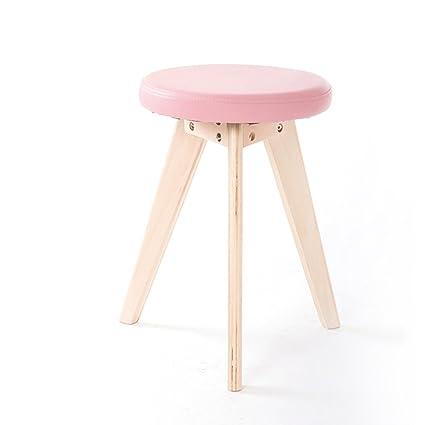 1807048643bbe Amazon.com  Everyday bar stools NNN- Home Simple Stool Fashion solid ...