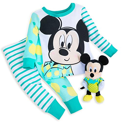 (Disney Mickey Mouse PJ PALS and Plush Rattle Set for Baby Size 18-24 MO Multi)