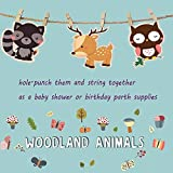 Mity rain Double-Sided Woodland Creatures Cutouts