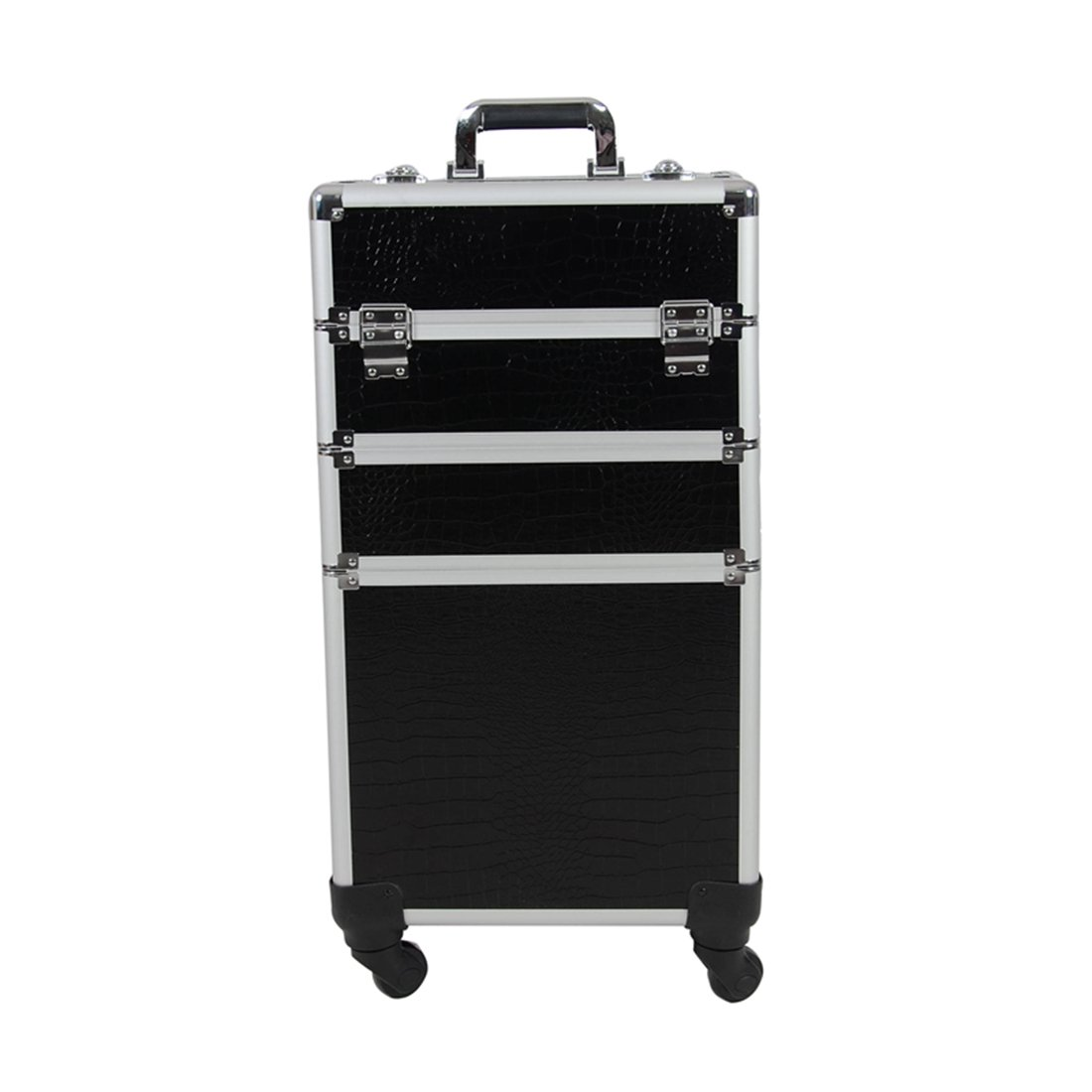 Chichitop Rolling Cosmetic Case Universal Wheel 3 in 1 Professional Multifunction Artist Rolling Trolley Makeup Train Case 4-wheel Cosmetic Box Wheeled Makeup Box Cosmetic Organizer