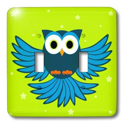 3d Rose 3dRose LLC lsp_20373_2 Cute Blue Flying Owl Under...