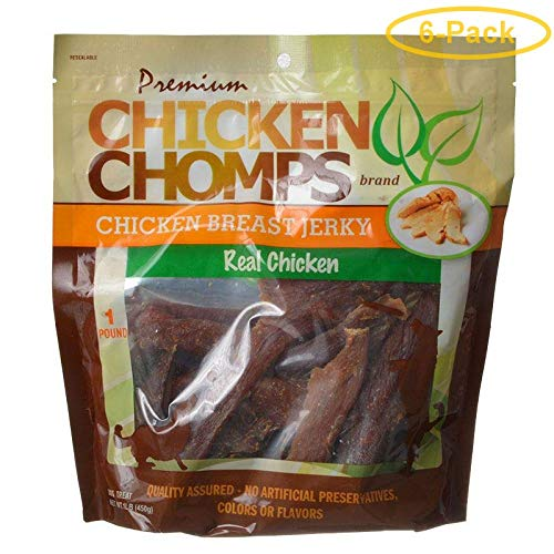 Scott Pet Premium Chicken Chomps Chicken Breast Jerky 1 lb - Pack of 6