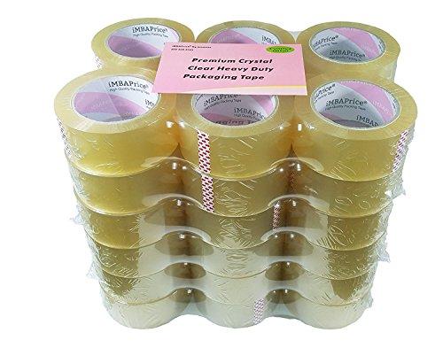 iMBAPrice Sealing Tape - 1 Box of (36 Roll of 110 Yards) 36x330 Feet Long 2