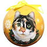 Calico Cat Christmas Ornament Shatter Proof Ball Easy To Personalize A Perfect Gift For Calico Cat Lovers