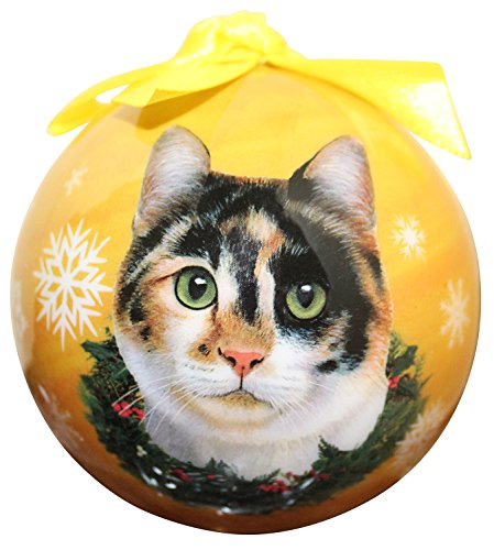 Calico Cat Christmas Ornament Shatter Proof Ball Easy To Personalize A Perfect Gift For Calico Cat Lovers -