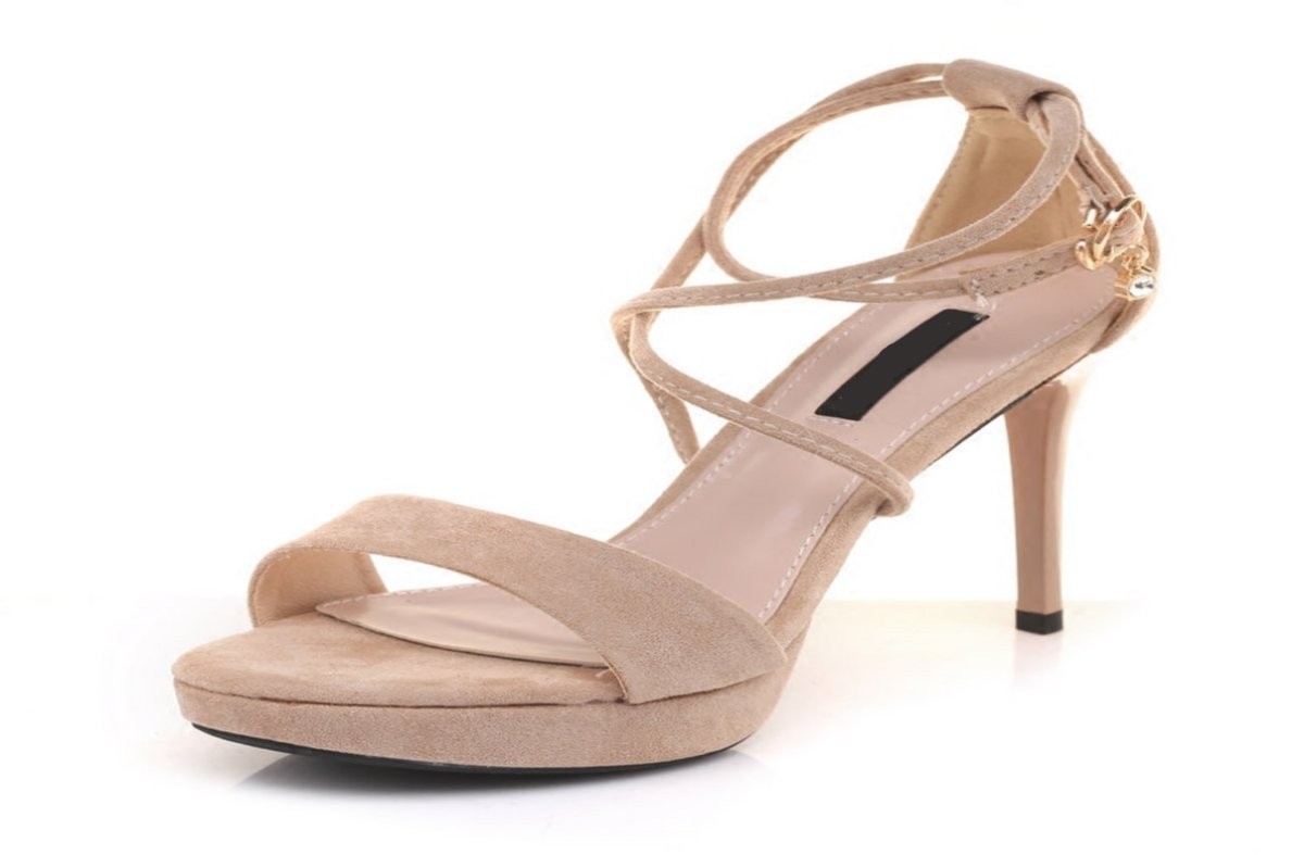 GTVERNH Damenschuhe 10 cm Hohen Absätzen aus Sexy Frauen Im Sommer aus Rom Kreuz-Frauen-Sandalen