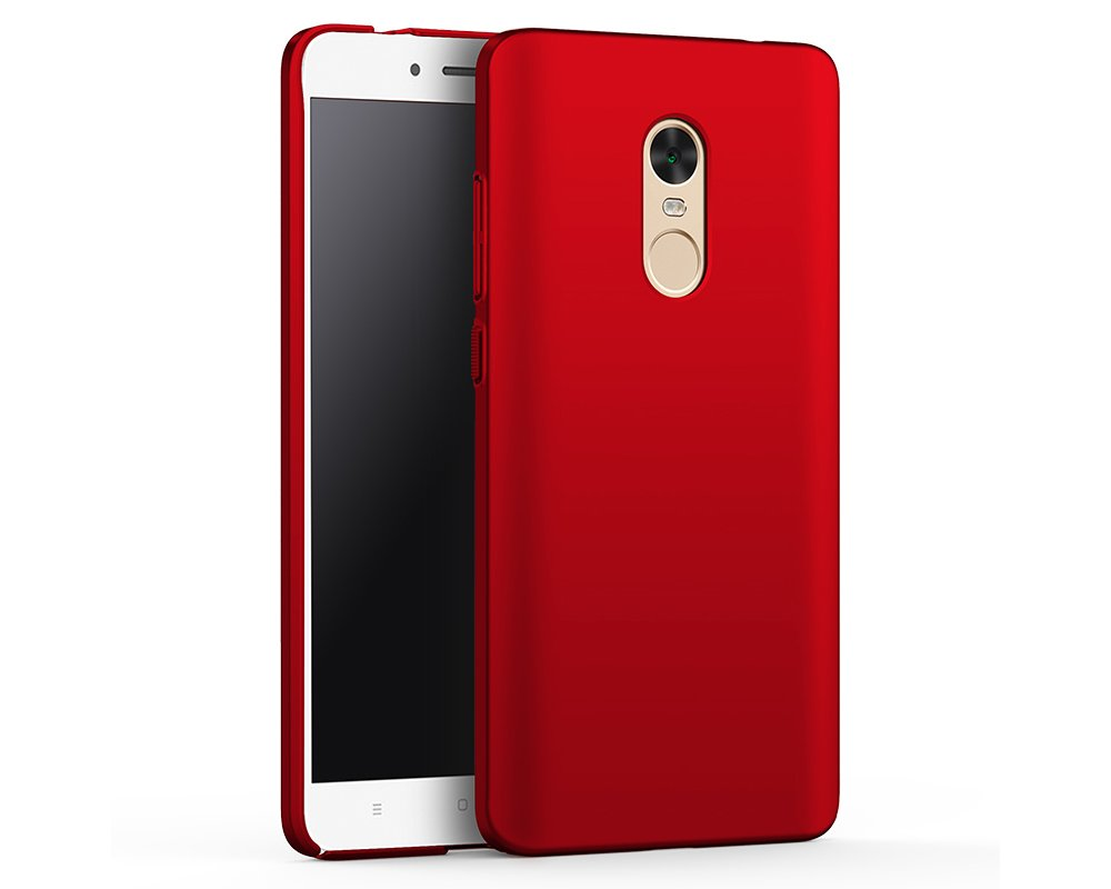 EIISSION Funda Compatible con Xiaomi Redmi Note 4X Funda,Carcasa ToughShell Funda táctil Funda Mate Funda Duro y Flexible Carcasa (Rojo)