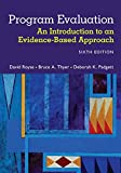 Program Evaluation : An Introduction to an Evidence-Based Approach