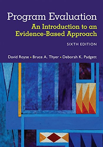 Program Evaluation  An Introduction To An Evidence Based Approach