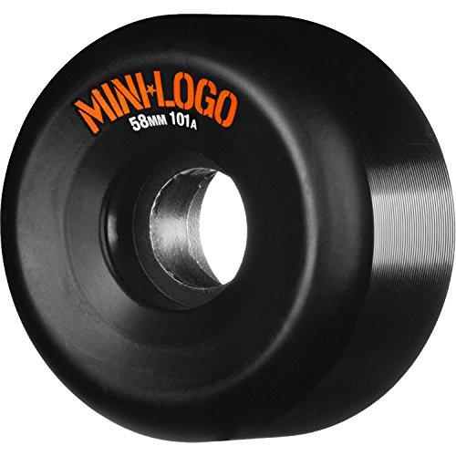 差し引く明るくする膜Miniロゴa-cut 58 mm 101 aブラックSkateboard Wheels (Set of 4 )