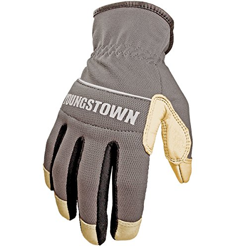(Youngstown Glove 12-3180-70-L Hybrid Plus Performance Glove, Large, Gray)