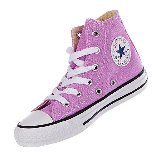 CONVERSE Chuck Taylor All Star Season Hi - Zapatillas de tela infantil Fucsia (Fuchsia Glow)