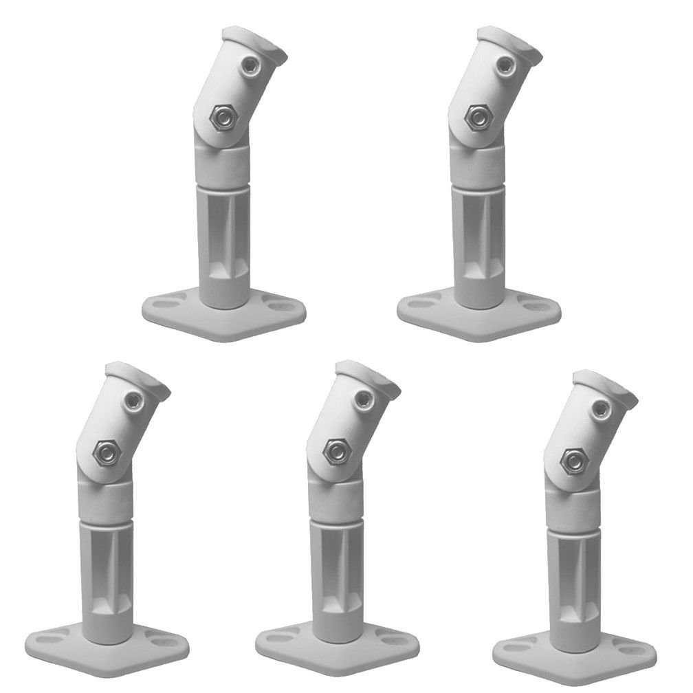 PAPE, White - 5 Pack Lot - Universal Wall or Ceiling Speaker Mounts Brackets fits BOSE