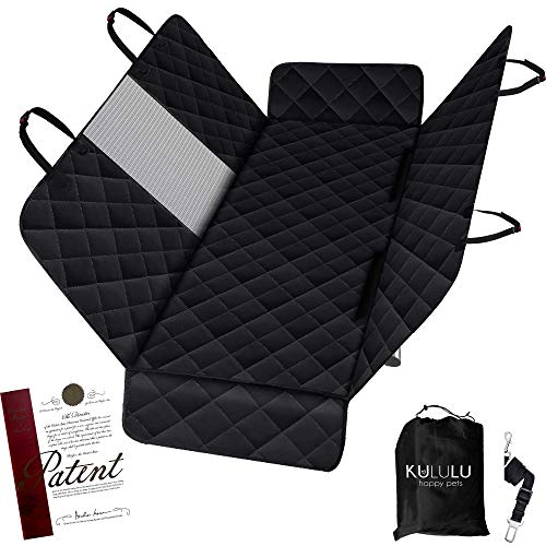 Kululu Dog Car Seat Cover for Back Seat - The Only Pet Seat Cover with Mesh Window for Stress Free Travel so You can See Each Other - Backseat Hammock Cover Protector for Cars- Patented