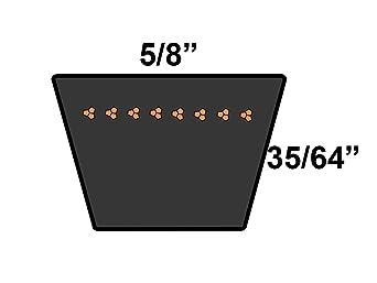 0.5 Width 79 Length D/&D PowerDrive 48X790 Kevlar V Belt