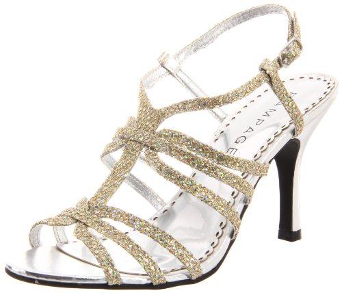 Rampage Women's Kiera Sandal,Silver,10 M US - Rampage T-strap Sandals